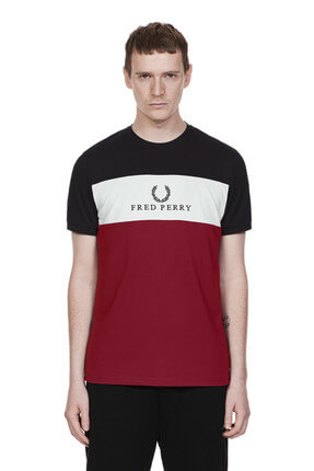 Fred Perry Erkek Embroidered Panel M4516 T-Shirt 183FRPETSH4516