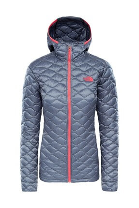 The North Face The North Face Thermoball Hooded Insulated Kadın Mont Gri
