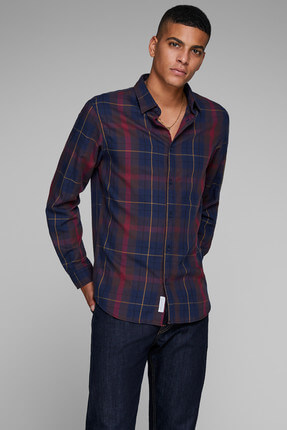 Jack & Jones Gömlek - Castle Core Shirt Ls Plain 12143097