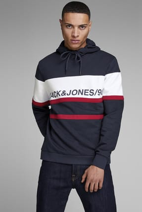 Jack & Jones Kapüşonlu Sweatshirt - Fade Core Hood Sweat 12149180