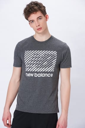 New Balance Erkek T-shirt - Vom Performance - V-MTT914-CHC