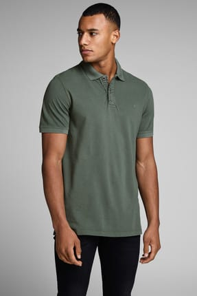 Jack & Jones Polo Yaka T-shirt - Chicago Premium Blu. Polo SS