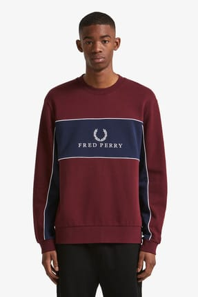 Fred Perry Erkek Bordo Sweatshirt 191FRPESST4553