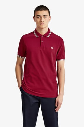 Fred Perry Erkek Polo T-shirt Mor 191FRPEPTS3600