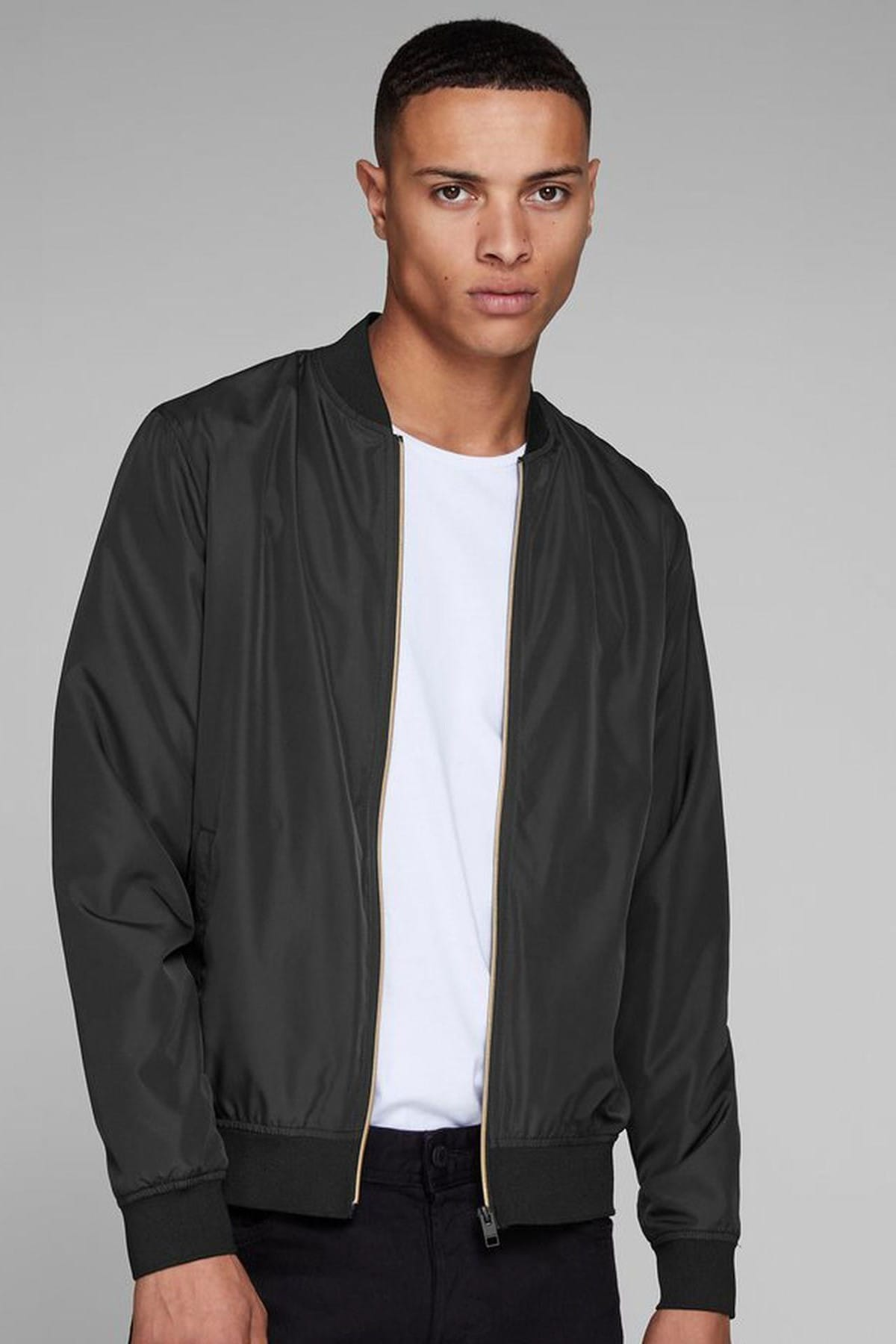 Erkek SIYAH Jack & Jones Mont - Party Bomber Jacket 12145488