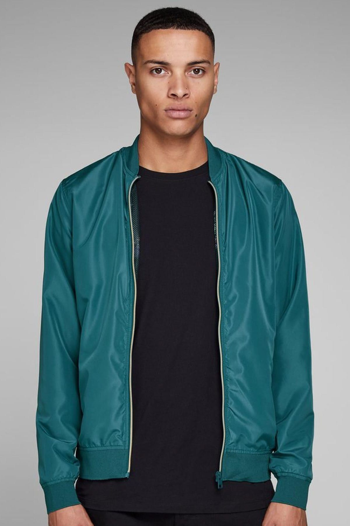 Erkek PETROLMAVI Jack & Jones Mont - Party Bomber Jacket 12145488