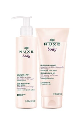 Nuxe Body Lait Fluide Corps Hydratant 24H 400 ml + Body Gel 200 ml 3264680013478