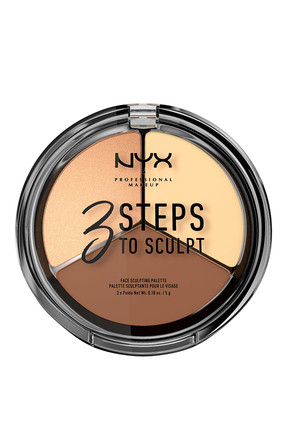 NYX Professional Makeup 3'lü Kontür Paleti - 3 Steps To Sculpt Light 800897098339