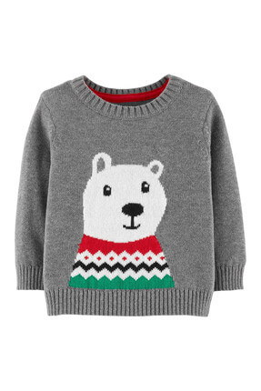 Carter's Erkek Bebek Kazak - Holiday Little Collection