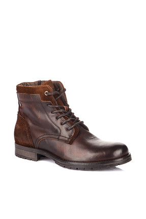 Jack & Jones Hakiki Deri Bot - Hanibal Leather Brown Stone-12125321
