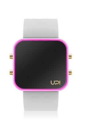 UpWatch Unisex Kol Saati 2UPWS2018557 LED GOLD PINK AND WHITE STRAP