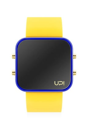 UpWatch Unisex Kol Saati 2UPWS2018540 LED GOLD BLUE AND YELLOW STRAP