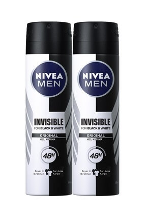 Nivea Invısıble Black&Whıte Power Sprey Deodorant 150 ml Erkek  x2