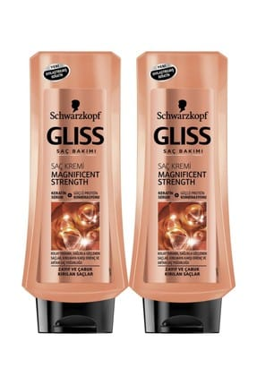 Gliss Magnıfıcent Strength Saç Kremi 360 ml x 2 Paket