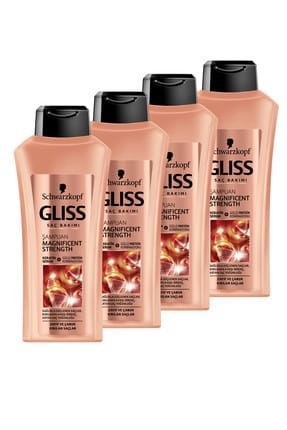 Gliss Magnificent Strength Şampuan 525 ml x 4 Adet