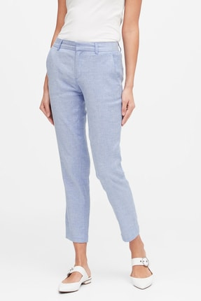 Banana Republic Kadın Mavi Avery Straight-Fit Pantolon 541549