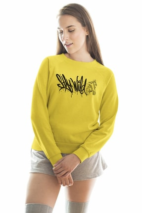 Angemiel Wear Stay Wild Kadın Sweatshirt A0345WK