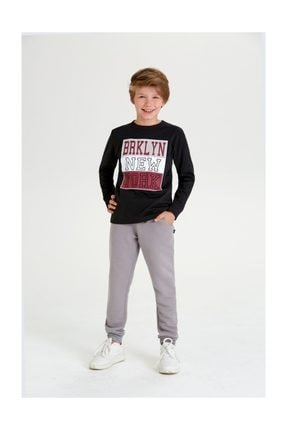 Wonder Kids Wonder Kids Brklyn Siyah Sweat