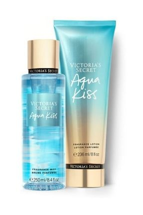 Victoria's Secret Agua Kıss New Collection Vücut Spreyi,vücut Losyonu 2 Li Set