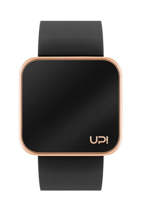 UpWatch Unisex Kol Saati 2UPWS2018526 TOUCH SHINY ROSE GOLD AND BLACK STRAP