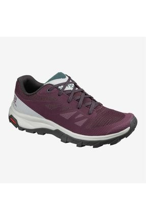 Salomon Outline W Kadın Outdoor Ayakkabı - L40996600-winetasting/quarry/green Gables