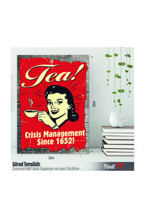 Tea 20x30 Retro Mdf Tablo TBMDF77