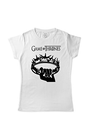 Art T-Shirt Art Tshirt Kadın Beyaz Game Of Thrones The Crown Art00232mk  59.9 TL