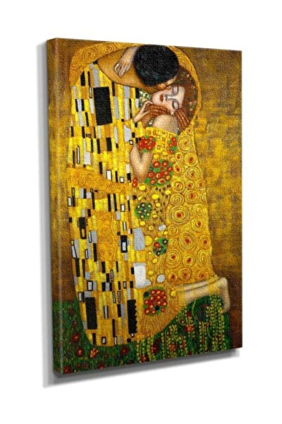 Gustav Klimt Öpüccük the Kiss Tablo  90x60 DTC14530814