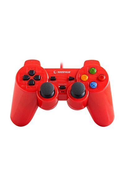 SNOPY RAMPAGE SG-R602 PS3/PC KIRMIZI USB 1.8M GAMEPAD