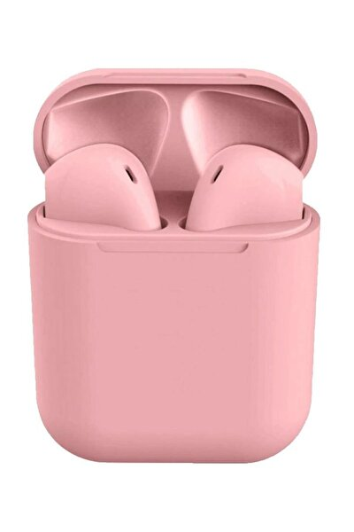 Airpods i12 TWS Pembe iPhone Android Universal Bluetooth Kulaklık HD Ses Kalitesi
