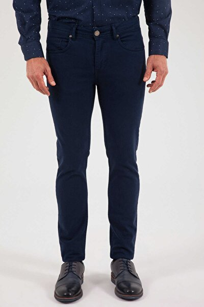 Slim Fit Lacivert  Pantolon 29152019D001