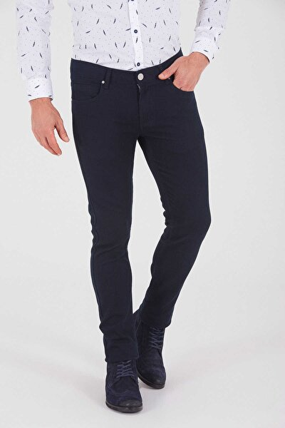 Desenli Slim Fit Gri Pantolon 29251019D002
