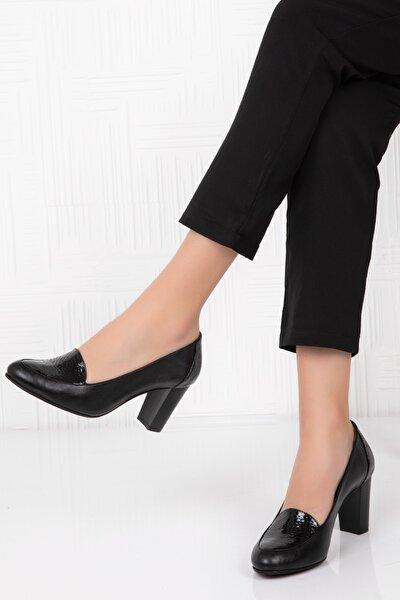 Potini Ayakkabı Hakiki Deri Kadın Topuklu Ayakkabı