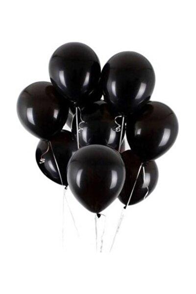 Siyah Metalik Balon 12 Inç 10 Adet