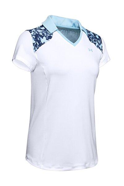Kadın Spor T-Shirt - UA Zinger Blocked Polo - 1350158-100