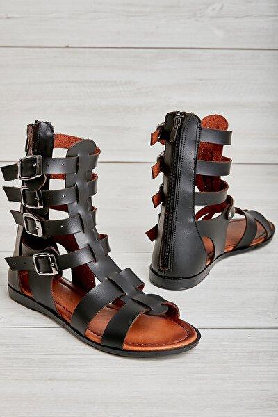 Siyah  Kadın Sandalet L07760300