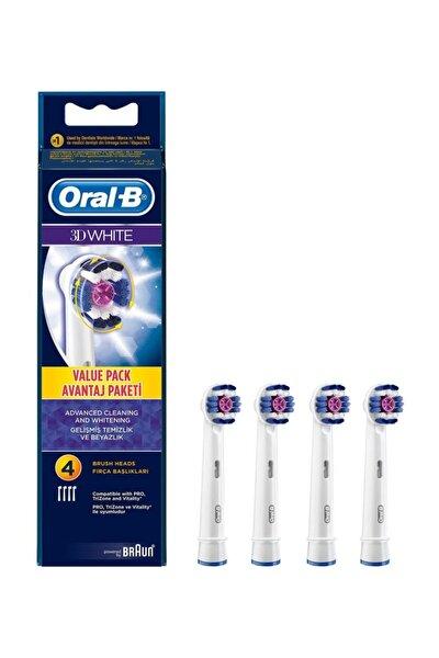 Diş Fırçası Yedek Başlığı 3d White 4lü