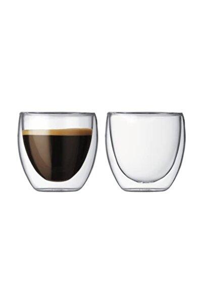 Çift Cidarlı Bardak Double Wall Glass Espresso Bardağı 2'li Set 80 ml 2,7 Oz