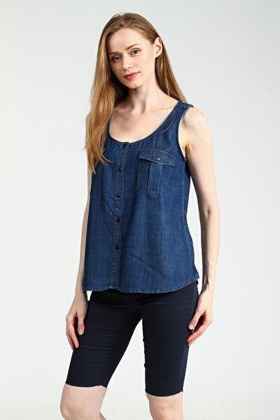 Kadın Koyu Mavi Gömlek Cowepe UCB010379A57