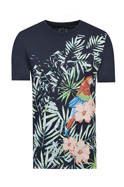 Lacivert Renk Erkek  T-shirt (Slim Fit)