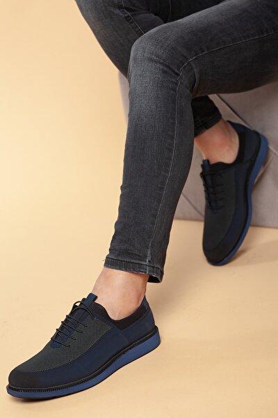 Lacivert-Süet Erkek Ayakkabı DXTRSKNT7011