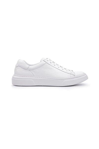 Hakiki Deri Beyaz Kadın Spor Ayakkabı Extralight Taban