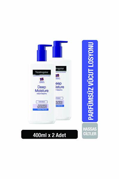 Deep Moisture Vücut Losyonu Parfümsüz Hassas Ciltler 400 ml x 2