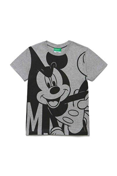 Gri Melanj Çocuk Mickey Mouse Tshirt