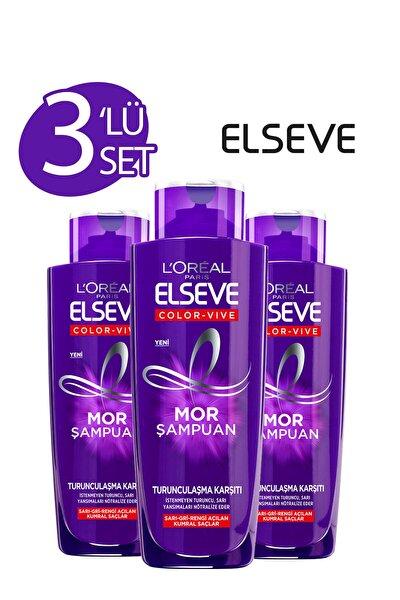3'lü Turunculaşma Karşıtı Mor Şampuan 200 ml Seti  36005236991483