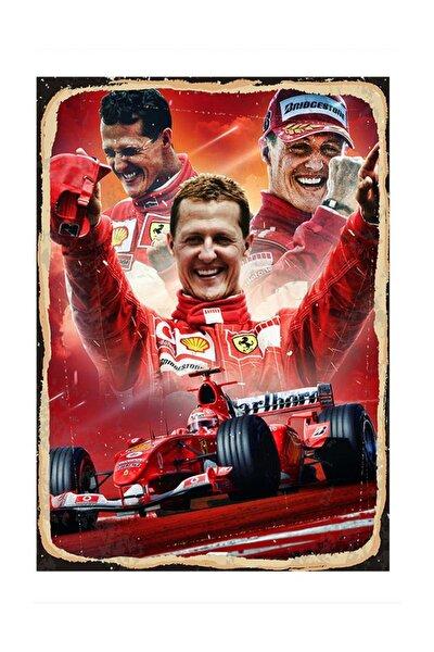 Schumacher Ferrari Mdf Poster 25x35cm