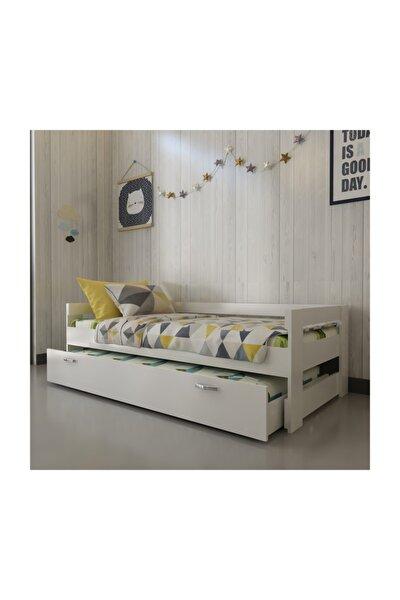İdeal Montessori Yavrulu Karyola X2016 Üst 90x190 Alt 90x180 Yatak Uyumlu
