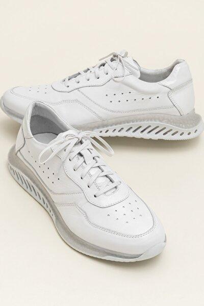 KEATON Hakiki Deri Beyaz Erkek Casual Ayakkabı