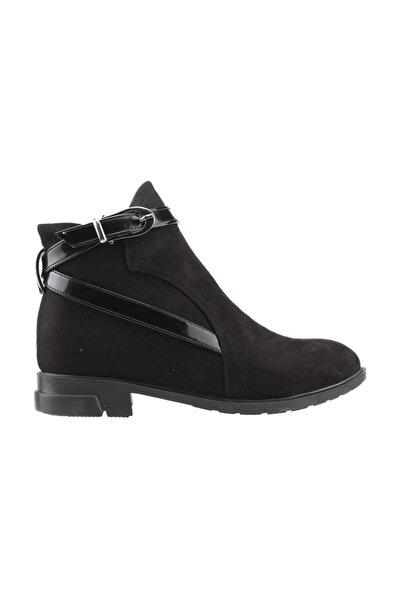2320-835 Siyah Günlük Termo Fermuarlı Kadın Süet Bot Ayakkabı