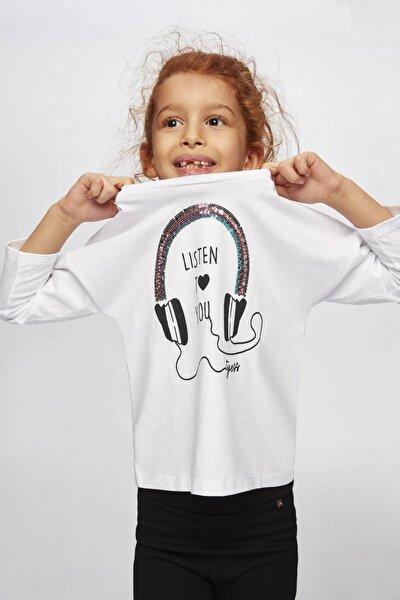 Kız Çocuk Beyaz T-shirt